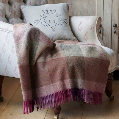 Highland Harlequin Shetland Wool Throw