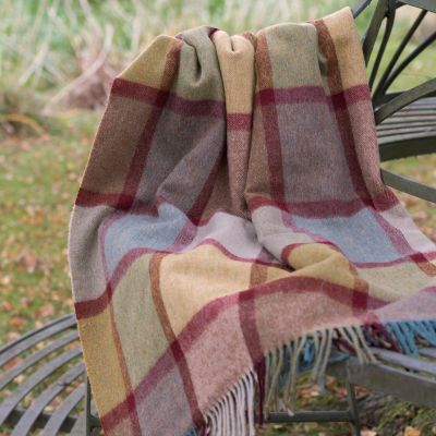 Ochre Lambswool Throw