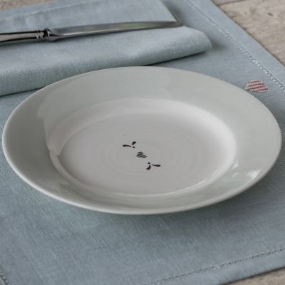 Charcoal Gustavian Heart Side Plate