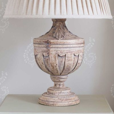 Large Carved Lamp Base