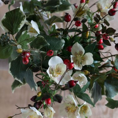 Christmas Silk Flower Stems