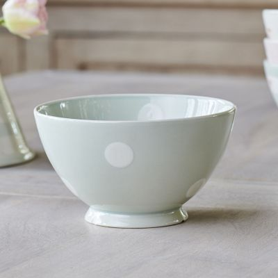 Blue White Spot French Bowl - Seconds