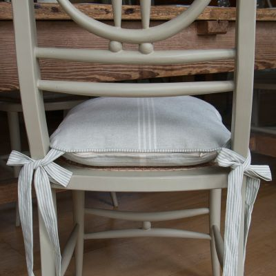 Grey Stripe Chair cushion