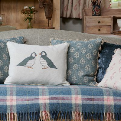 Denim Blue Megha Linen Cushion