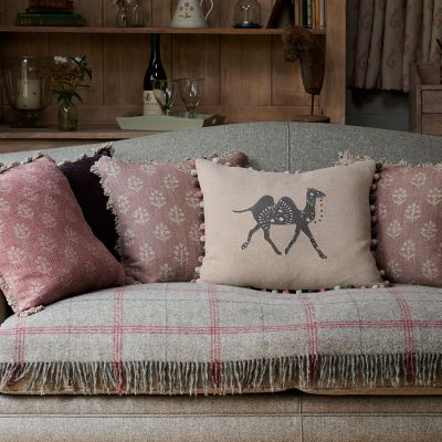 Embroidered Linen Pushkar Cushion