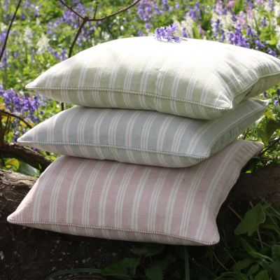 Duck Egg Cambridge Stripe Cushion