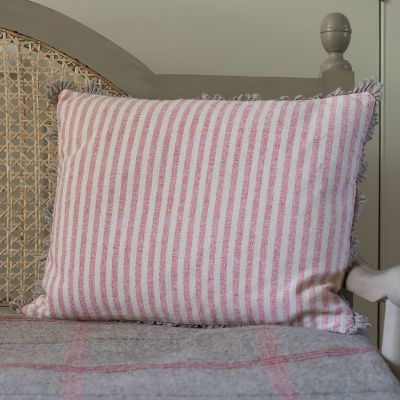 Red Natural Stripe Cushion