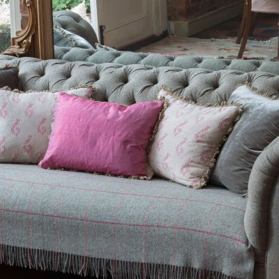 Fuchsia Silk Cushion