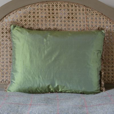 Green Silk cushion