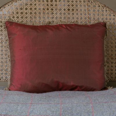Red silk cushion