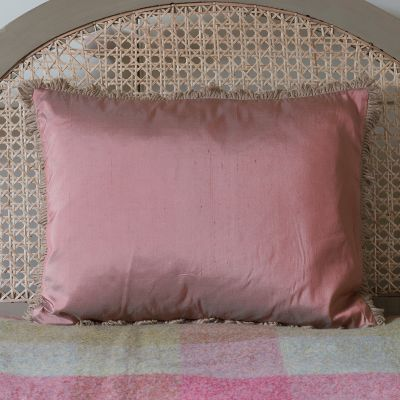 Pale Rose Silk Cushion