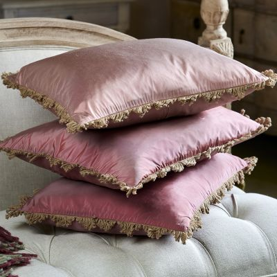 Deep Rose Silk Taffeta Cushion