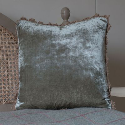 Smokey Green Velvet Cushion