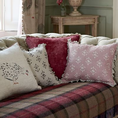 Damson Velvet Cushion