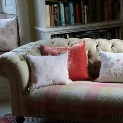 Russet Red Velvet Cushion