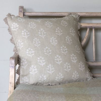 Reverse Grey Megha Linen Cushion