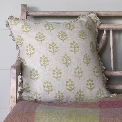 Summer Green Megha Linen Cushion