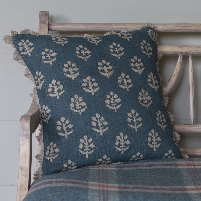 Indigo Megha Linen Cushion