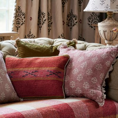 Red Earth Megha Rustic Linen Cushion