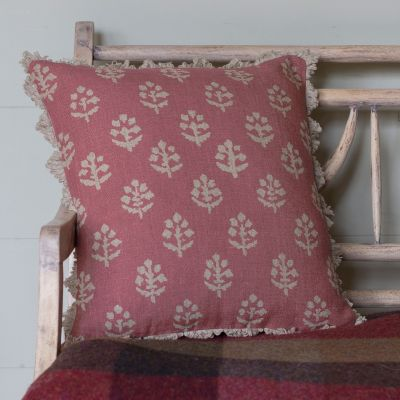 Reverse Rose Rustic Megha Linen Cushion