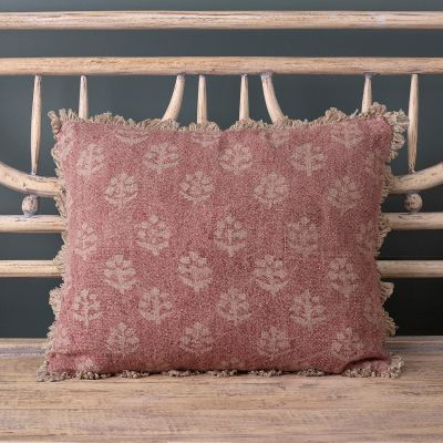 Russett Red Megha Rustic Linen Cushion