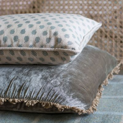 Sail Blue Nina Linen Cushion