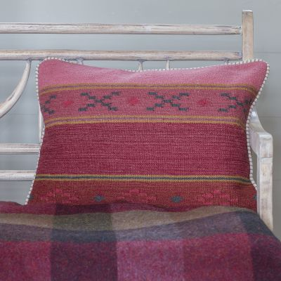 Damson Stripes Kilim Cushion