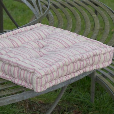 Beech Violet Ticking Stripe Box Cushion