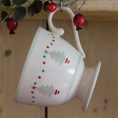Grey Christmas Trees Large Mug