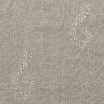 Roll End - Ivory Shalini Embroidered Linen 2.7m – 140/I