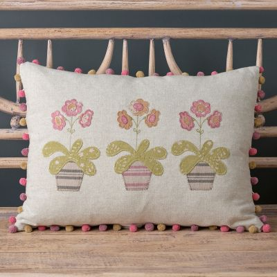 Three Auricula/ Mika Cushions