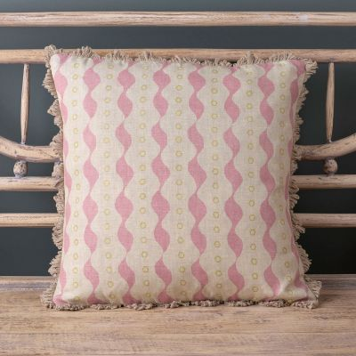 Pink & Green Printed Cushion