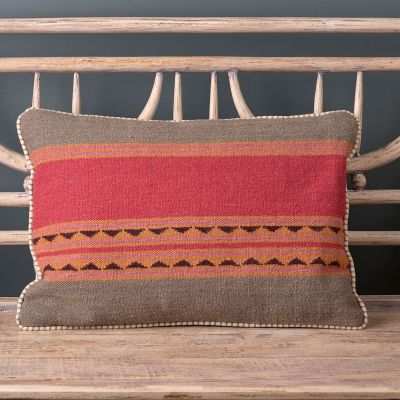 Jaipur Stripe Kilim Cushion 55 x 40cm