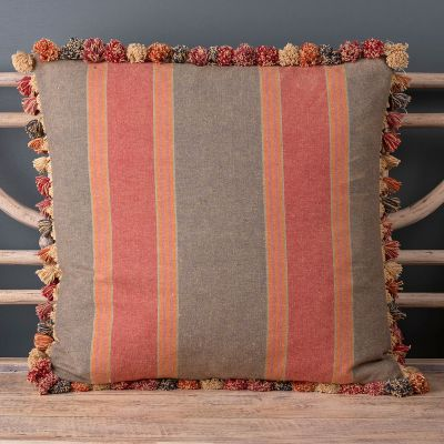 Jodhpur Stripe Large Cotton Seat Cushion 58 x 58cm