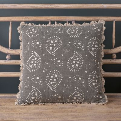 Black cotton cushion