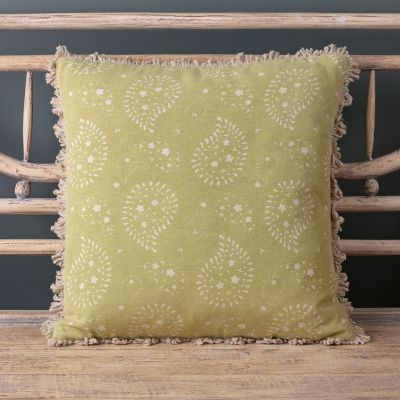 Summer green cotton cushion