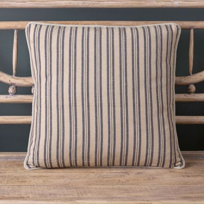 Indigo Beech Ticking Stripe Cushion