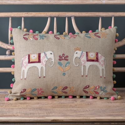 Embroidered Red Indian Wedding Cushion
