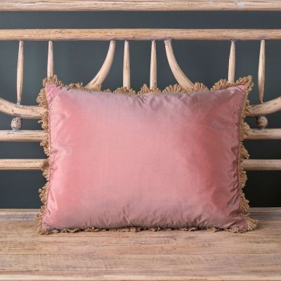 Old Rose Silk Taffeta Cushion