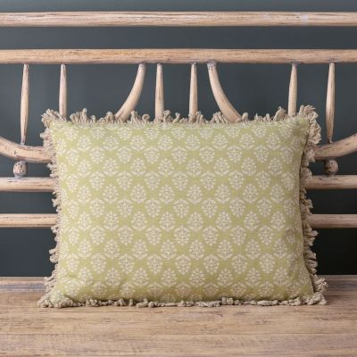 Summer Green Sprig Cushion