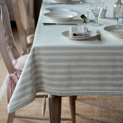 Duck Egg Cambridge Stripe Tablecloth - Large