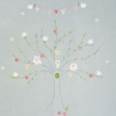Bird Tree Embroidered Panel  – 136