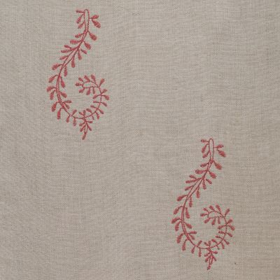 Red Shalini Embroidered Linen – 140/R