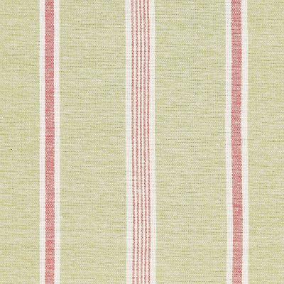 Green Red Henley Stripe Cotton – Double Width – 206