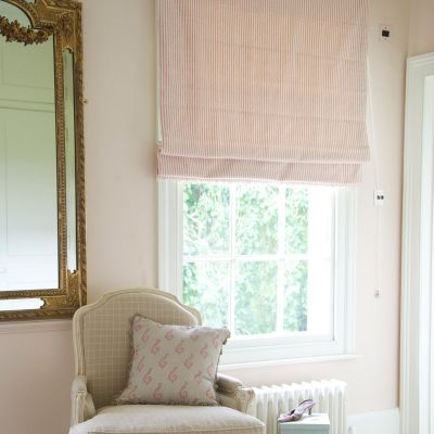 Roman Blind in Rose Ivory Stripe  149cm x 83cm
