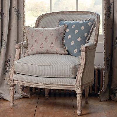 Ex-Display Small Library Chair – Sail Blue Stripe