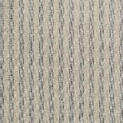 Blind in Charcoal Natural Stripe Cotton 116cm x 137.5cm