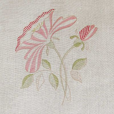 Roman Blind in Pink Rose Linen 104cm x 119cm