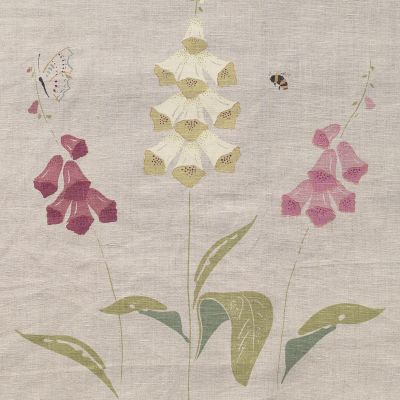 Curtains in Foxglove Linen 227cm x 104cm