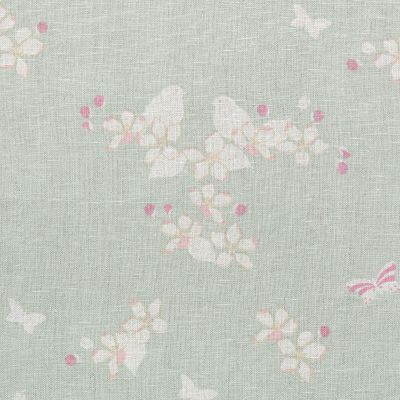 Duck Egg Reverse Apple Blossom Linen – 315